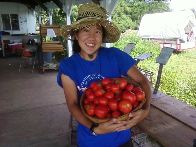 Karen, queen of the tomatoes