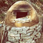 Great photo of the pizza oven in action