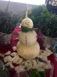 Turnip Snowman (credit to Cammie Rubottom!)